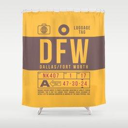 Luggage Tag B - DFW Dallas Fort Worth USA Shower Curtain