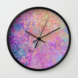 Chipping Rainbow Wall Clock