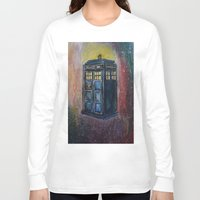 tardis Long Sleeve T-shirts featuring TARDIS by EricaWise