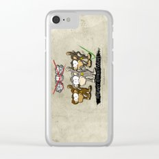 Protest Monkeys Clear iPhone Case