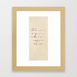 the love of Framed Art Print
