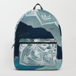 Indigo Galaxy and Mountains Mandala Backpack