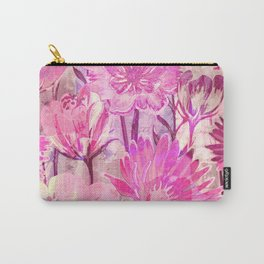 pink floral and words Carry-All Pouch