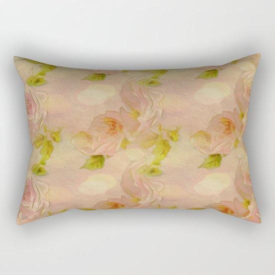 Secret Rose Garden Rectangular Pillow