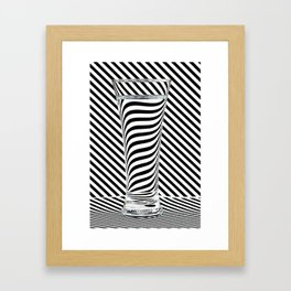 Striped Water Framed Art Print