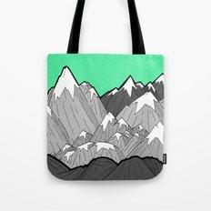 Green Sky Mounts Tote Bag