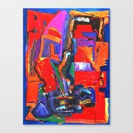 Metropolis Öl auf Leinwand Canvas Print