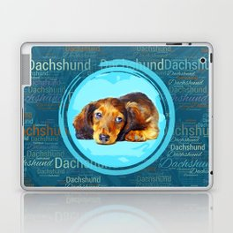 Cute Longhaired Dachshund Puppy Laptop & iPad Skin