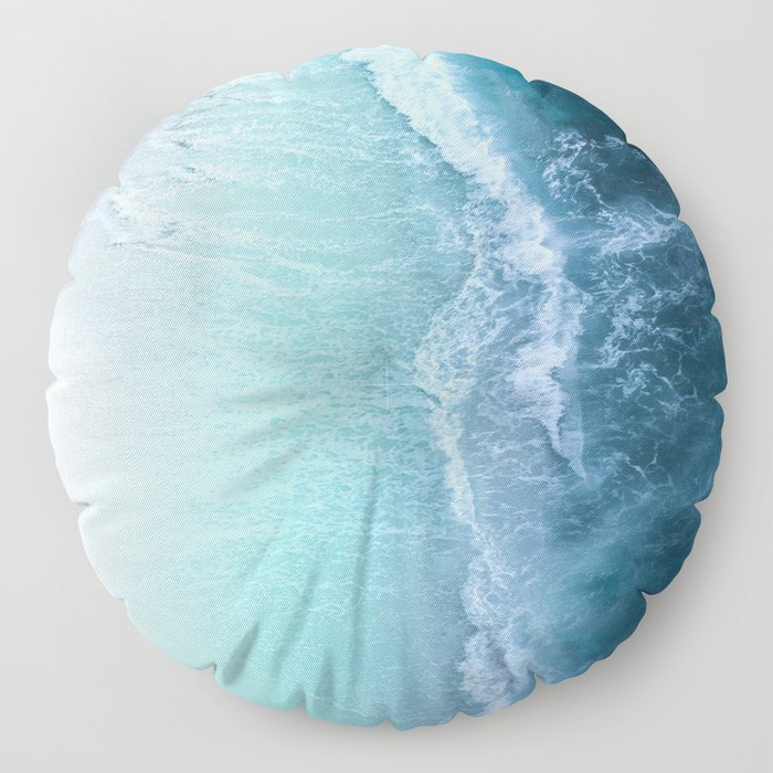 Turquoise Sea Floor Pillow