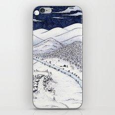 Snowy Night in Japan iPhone & iPod Skin