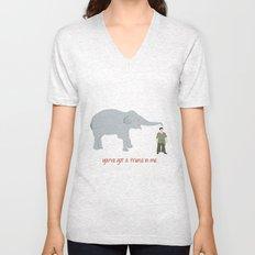 Elephant Friends Unisex V-Neck