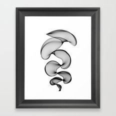 Black Silk Framed Art Print