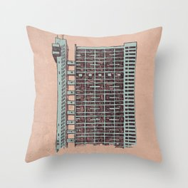 Brutalist Architecture Trellick Tower  Throw Pillow