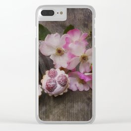 Taste of Summer- Raspberry Cakes Clear iPhone Case