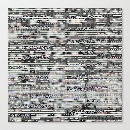Removing Filters (P/D3 Glitch Collage Studies) Canvas Print