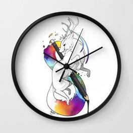 RitheWolf - To Be an Artist Wall Clock