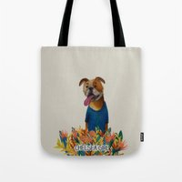 chelsea Tote Bags featuring Chelsea Girl by Jade Young Illustrations