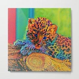 AnimalColor Leopard 009 Metal Print