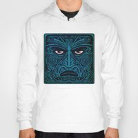 maori Hoodies featuring maori style 03 by Alexis Bacci Leveille