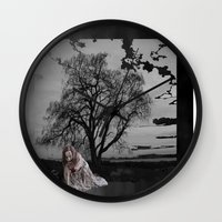 zombie Wall Clocks featuring zombie by Shea33