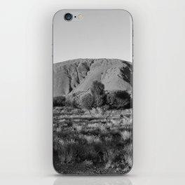 Black and White Uluru - Australia iPhone Skin
