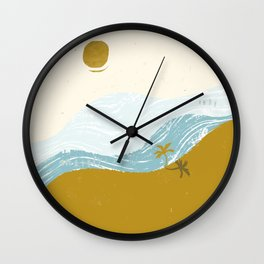 Self Isolation Beach Sunset Wall Clock