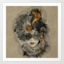 Venetian Mask 2 Art Print