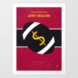 No838 My Jerry Maguire minimal movie poster Art Print