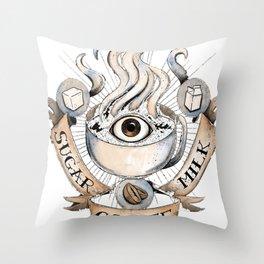 The Holy Trinity of Caffeine Throw Pillow