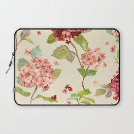 Fall Hydrangeas, Floral Print Laptop Sleeve