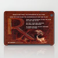 depression iPad Cases featuring Depression or the Pain - 111 by Lazy Bones Studios
