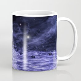 Meteorites in space nebula Coffee Mug