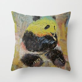 Rasta Panda Throw Pillow