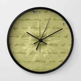 Brown and Gold pattern works Wall Clock