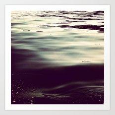 winter waters Art Print