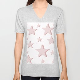Pink Stars Unisex V-Neck