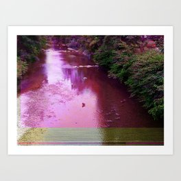 By The Water Art Print