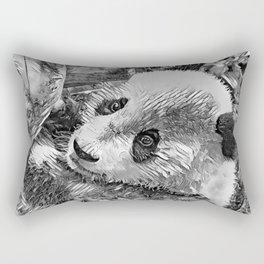 AnimalArtBW_Panda_20180102 Rectangular Pillow