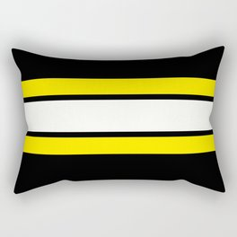 Team Colors....Yellow white and black Rectangular Pillow