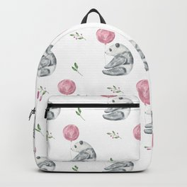 Panda with Pink Balloon Backpack