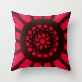 Spin the Wheel Red Throw Pillow