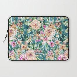 Teal MAUI MINDSET Colorful Tropical Floral Laptop Sleeve