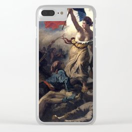 Liberty Leading the People by Eugène Delacroix (1830) Clear iPhone Case