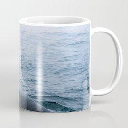 Humpback whale in the minimalist fog - photographing animals Coffee Mug