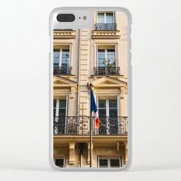 Parisian Sunset III Clear iPhone Case