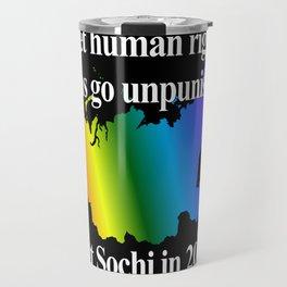 Boycott Sochi - Rainbow Flag Gradient Travel Mug