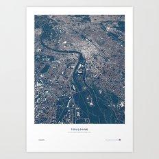 Toulouse - City Map Art Print