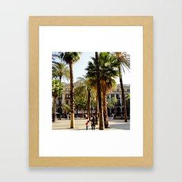 Plaza Real Framed Art Print