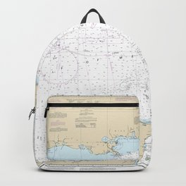 Gulf of Mexico Authentic Nautical Chart No. 411 Backpack