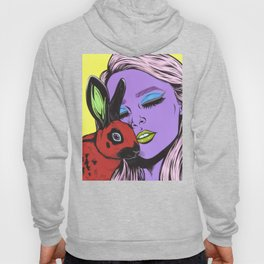 girl with rabbit Hoody